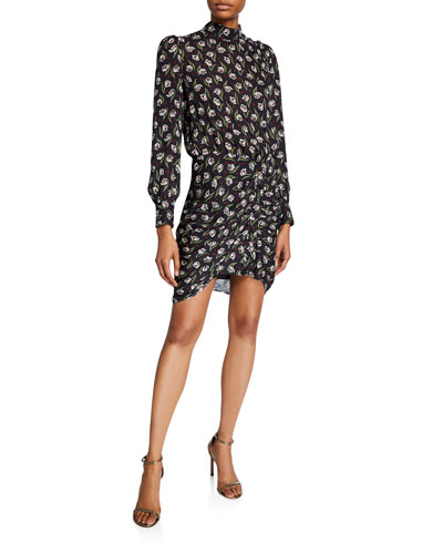 Cadence Floral High-Neck Dress