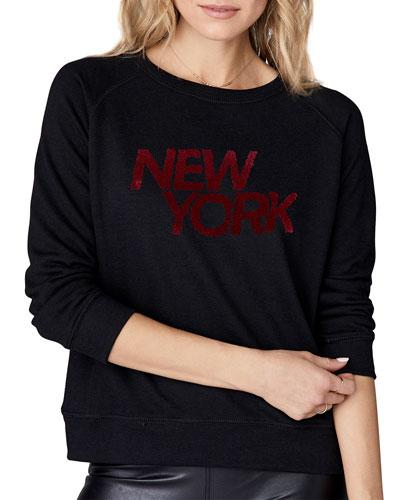 New York Leopard Raglan Pullover