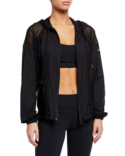 Feature Hooded Mesh Jacket
