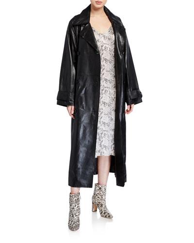Eliora Lamb Leather Trench Coat