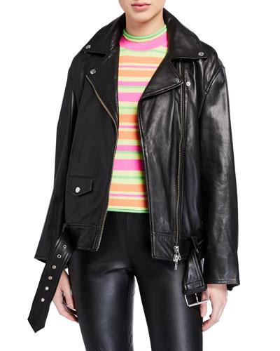 Abi Lamb Leather Jacket