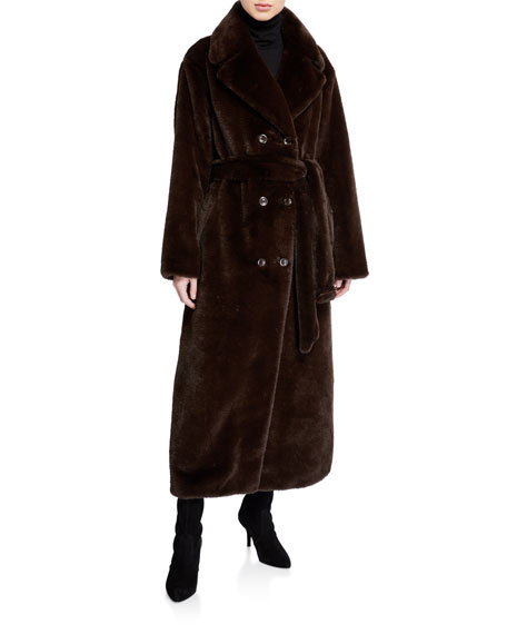 Faustine Long Double-Breasted Coat