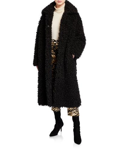 Leah Curly Faux-Shearling Coat