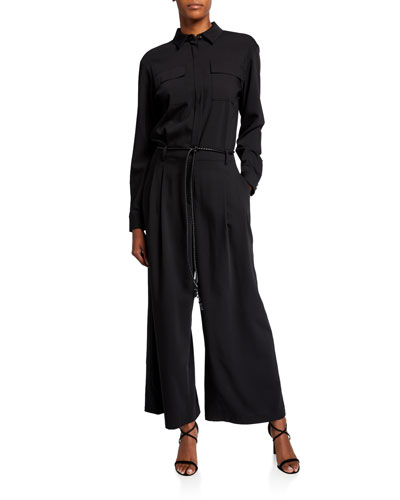 Modernist Cloth Jumpsuit w/ Rope Belt
