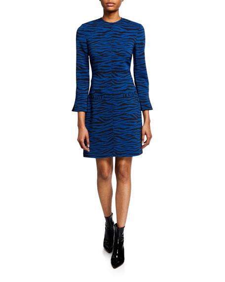 Noelle Striped Crewneck Dress