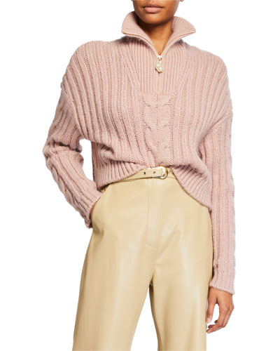 Eria Cable-Knit Cropped Sweater