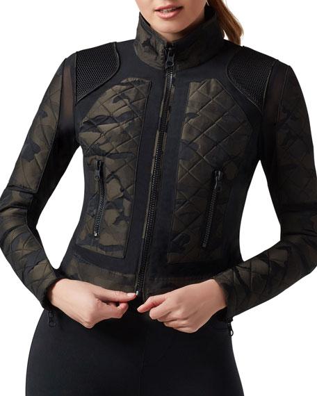 Camo Mesh Moto Jacket