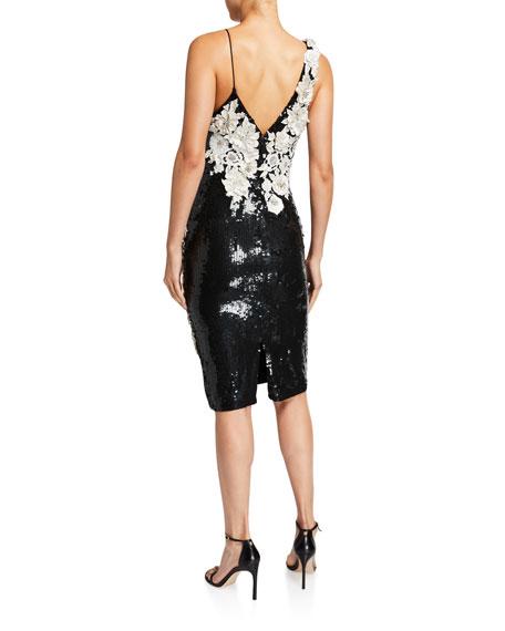 Francie Sequin & Flower Short Gown