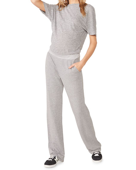 Maternity Short-Sleeve Dolman Jumpsuit