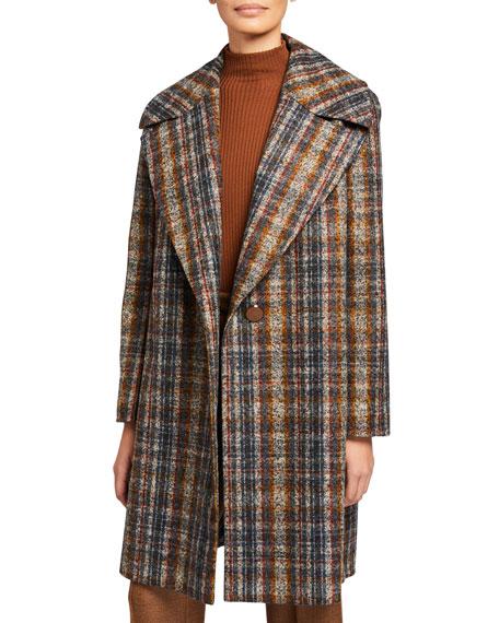 Lebell Artisan Plaid One-Button Coat