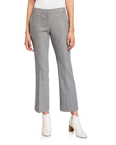 Manhattan Finite Italian Flannel Cropped Flare Pants