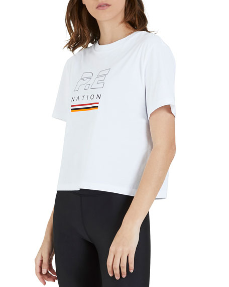Image 1 of 1: Ignition Graphic Cropped Tee