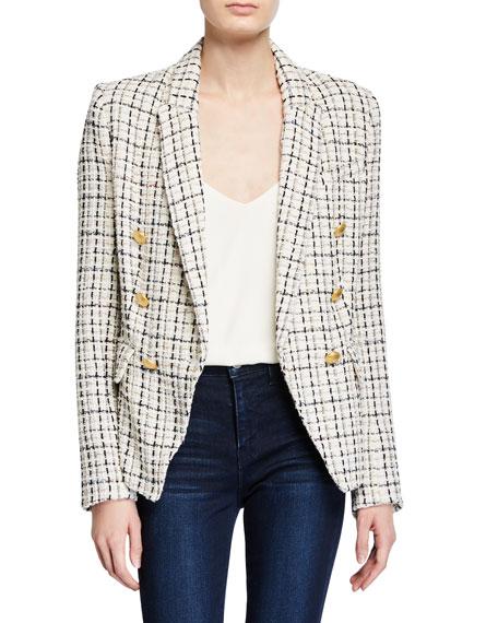Kenzie Double-Breasted Tweed Blazer