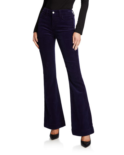 Affair Corduroy High-Rise Relaxed Flare Jeans
