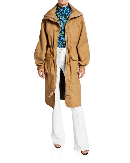 Double-Layer Cotton Parka Jacket