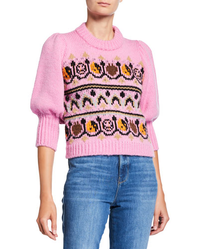 Hand-Knit Wool Pullover Sweater
