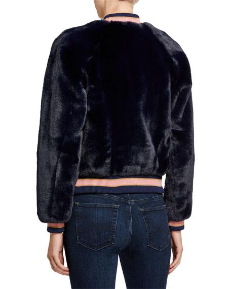 The Letterman Faux-Fur Bomber Jacket
