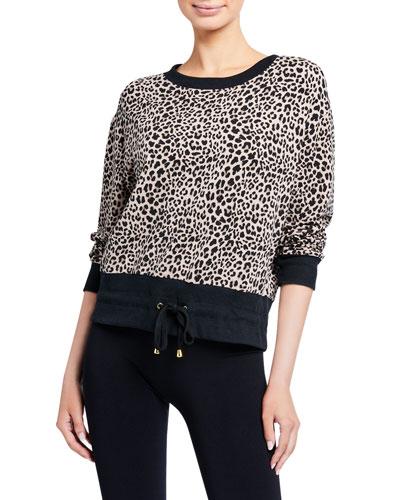 Arden Leopard Drawstring Sweatshirt