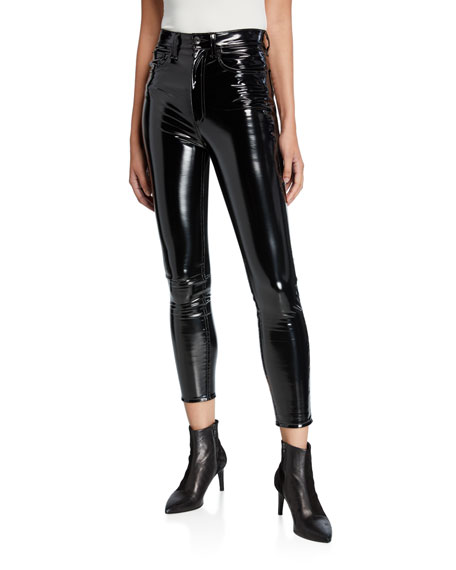 Super High-Rise Ankle Skinny Vinyl Pants