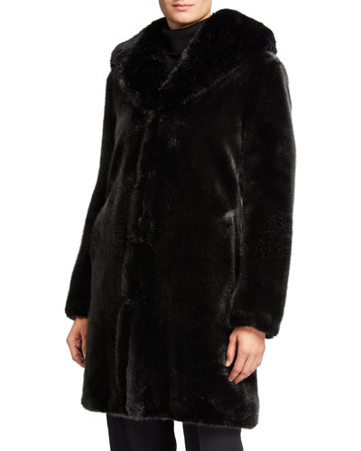 Dark Knight Faux Fur Coat