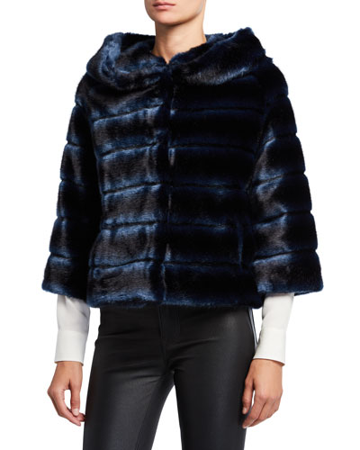 Faux Fur Swing Topper Jacket