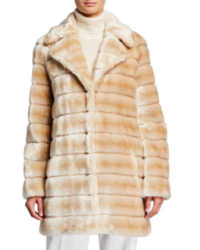 Oh My Deer Faux Fur Coat  Ivory