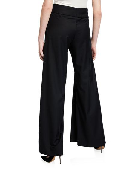 Madison High-Rise Wide-Leg Pants