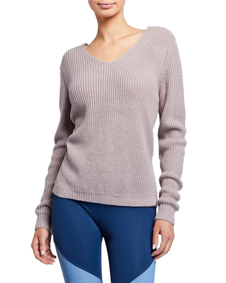 Ballet Twisted-Back Sweater