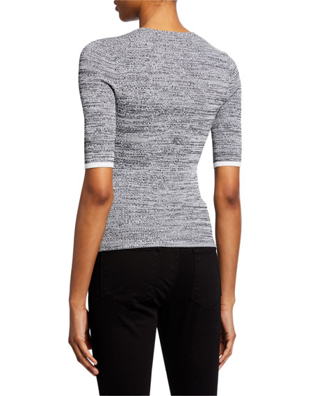 Norris 3/4-Sleeve Snap-Front Top