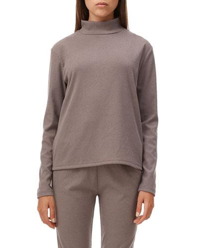 Lyla Ribbed Long-Sleeve Turtleneck Top