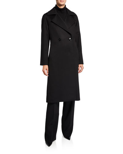 Cashmere Long Double-Breasted Coat
