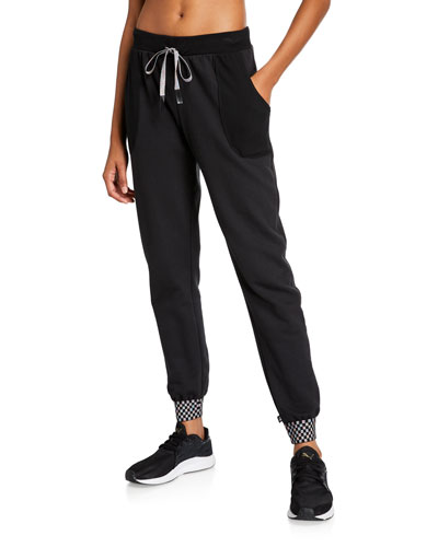 Checkerboard Trim Jogger Pants