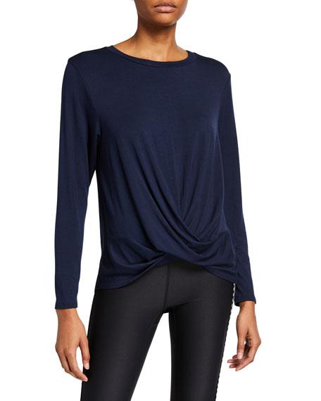 Twist Front Long-Sleeve T-Shirt