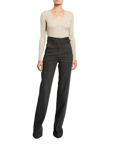 Harlan Belted Wide-Leg Jeans