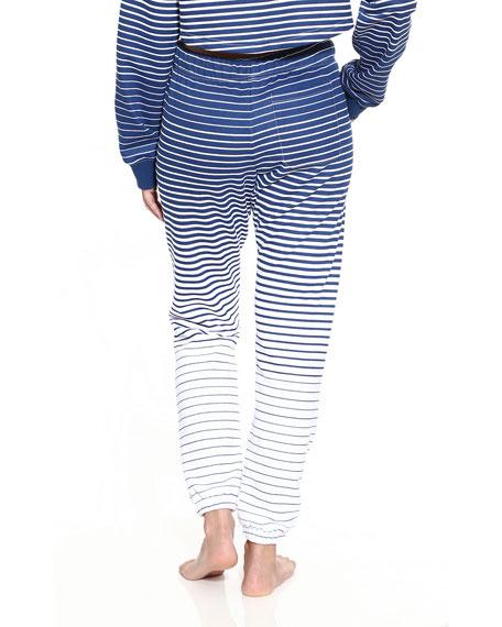 Striped Unisex Logo Sweatpants