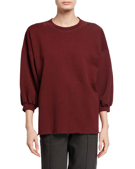 Image 1 of 1: Bowen 3/4-Sleeve Crewneck Sweater