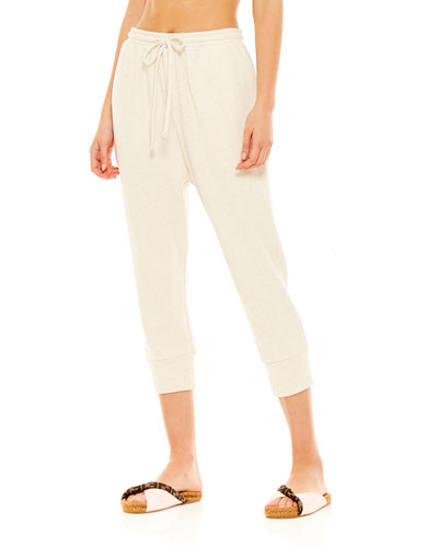 Leah Drawstring Cropped Track Pants