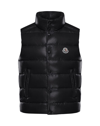 Quilted Nylon Snap-Front Puffer Vest  Size 8-14