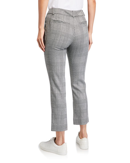 Plaid Cropped Perfect Trousers