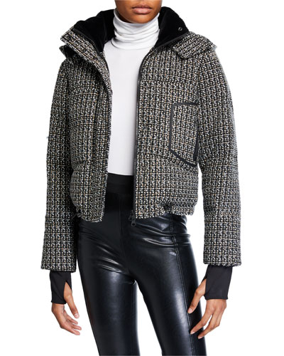 Crop Boucle Puffer Jacket
