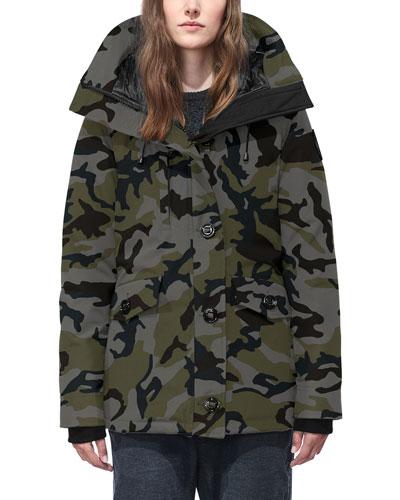 Rideau Hooded Camo Parka Coat