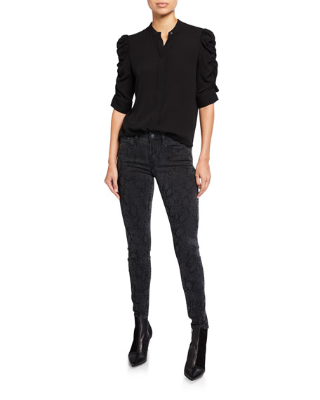 Le Skinny De Jeanne Mid-Rise Ankle Jeans