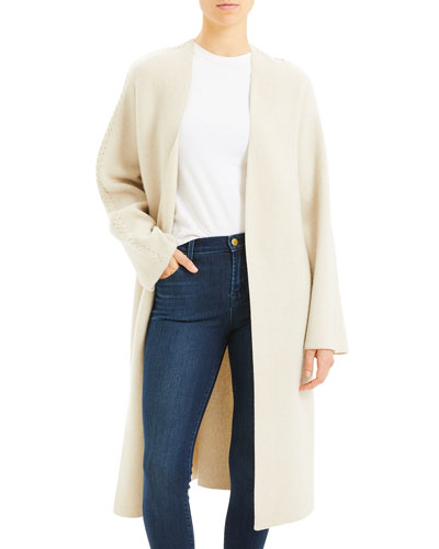 Whipstitch Wool-Cashmere Coat