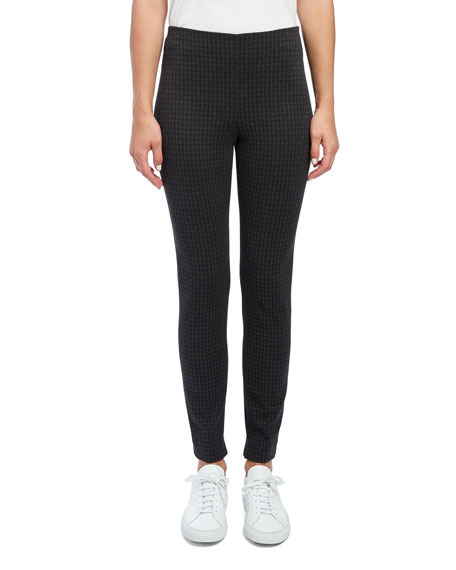 Houndstooth Knit Skinny Leggings