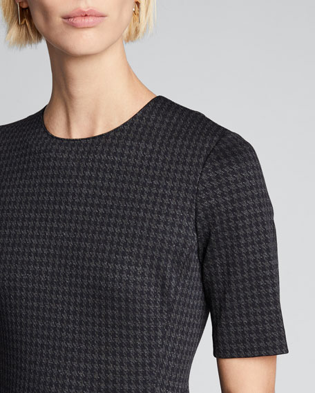 Fitted Short-Sleeve Shell Top