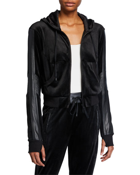 Image 1 of 1: Interpol Cropped Velvet Hood