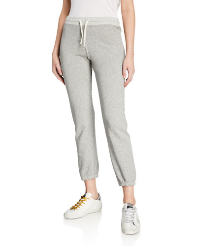 Cropped Drawstring Sweatpants