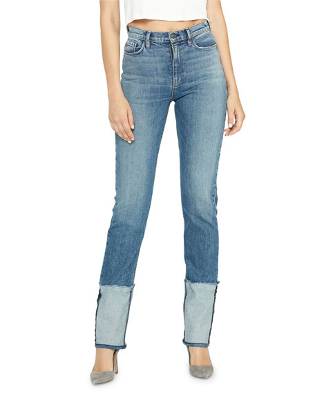 Image 1 of 1: Holly High-Rise Deep-Cuff Jeans