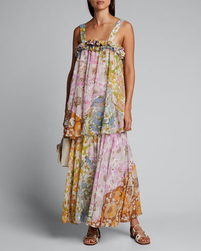 Super Eight Tiered Floral Maxi Dress