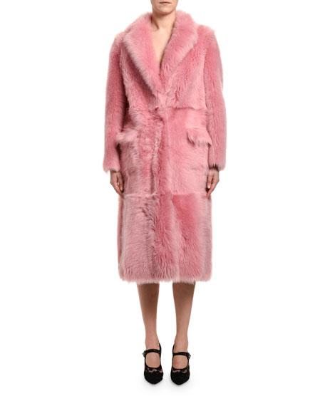 Long Sheepskin & Mink Fur Coat